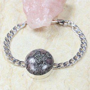Handmade Eudialyte 925 Silver Bracelet